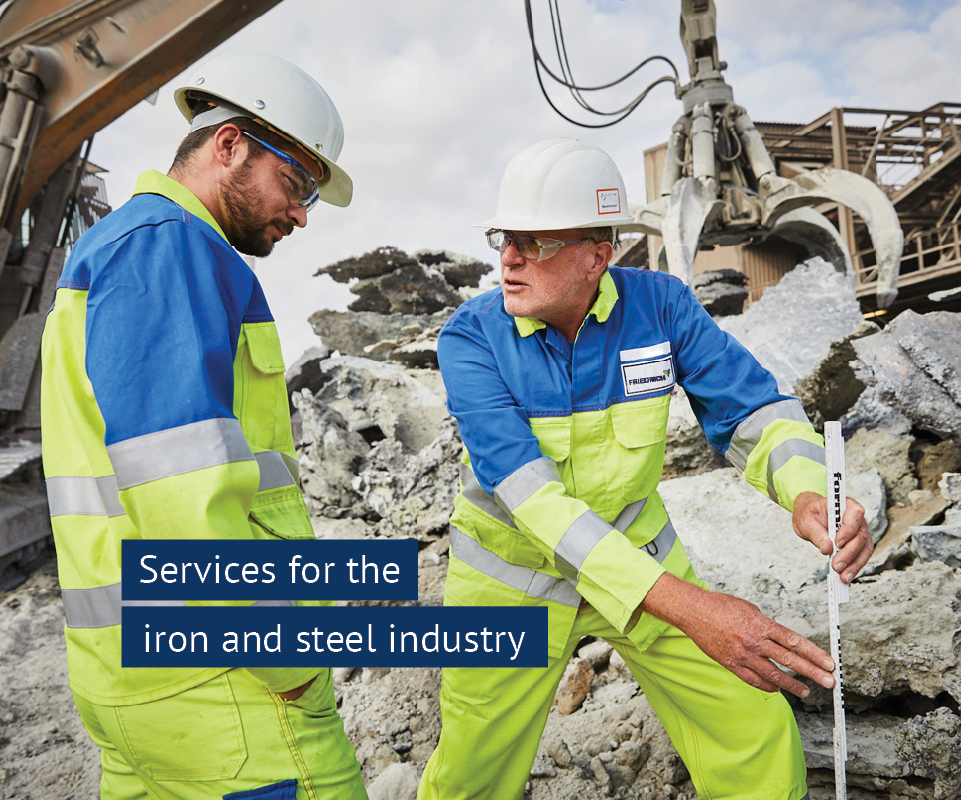 Services for the iron and steel industry